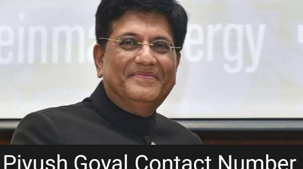 piyush goyal contact number