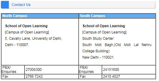 DU SOL Contact Details
